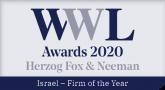 הרצוג פוקס נאמן זכו בפרס פירמת השנה בישראל לשנת 2020 על ידי הWWL